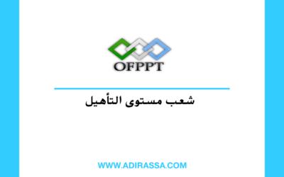 شعب مستوى التأهيل Qualification بالتكوين المهني حسب جهات المغرب ال 12 400x250 - التكوين المهني
