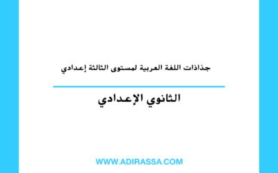 جذاذات اللغة العربية ثالثة إعدادي لتقديم دروس المادة في المغرب