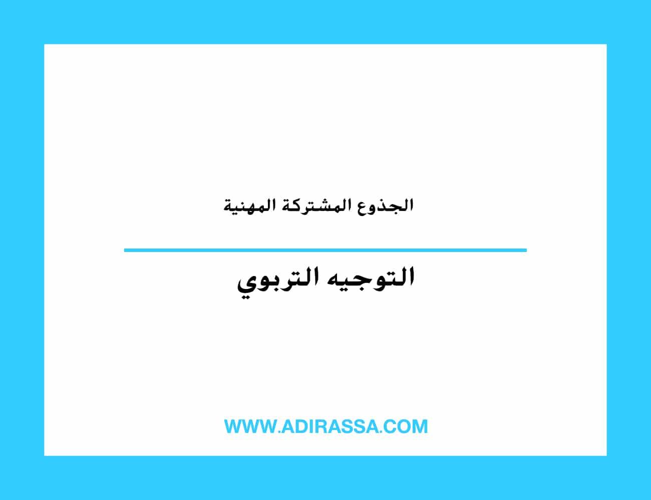 التوجيه إلى الجذوع المشتركة المهنية بالثانوي تأهيلي بالمغرب