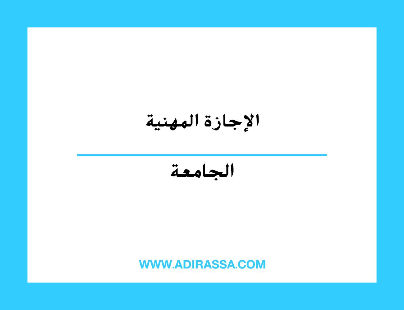 الإجازة المهنية بالمغرب تتويجا لمسار دراسي بخبرات معرفية ومهنية قوية